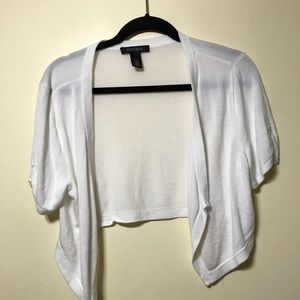 White House Black Market  white shrug